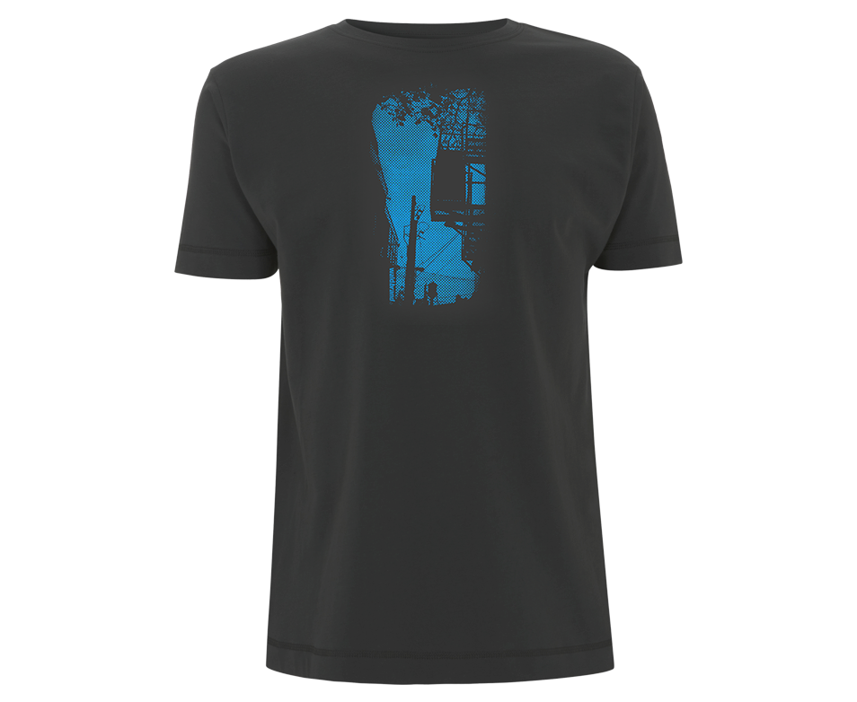 Chateau d´eau - dunkelgraues Shirt für Jungs, siebdruck, grafik, design, rastergrafik, montréal, mile end, print, imprinter, dunkelgrau, blau, shirts, t-shirts, shop