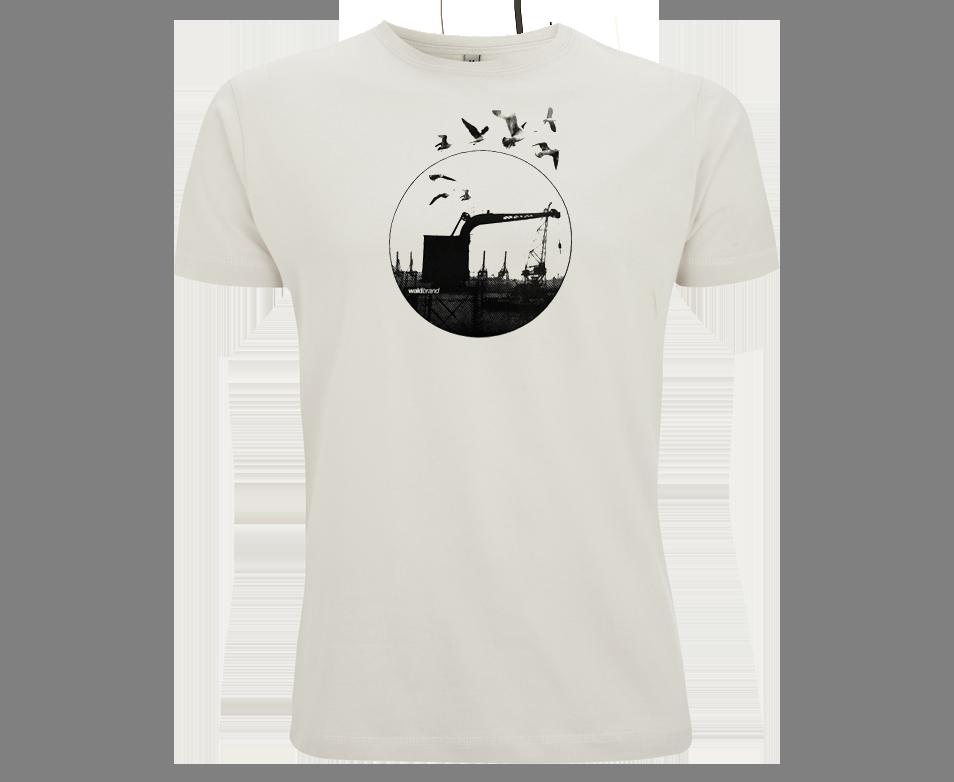 Dockland - Siebdruck auf Ecru-Shirt