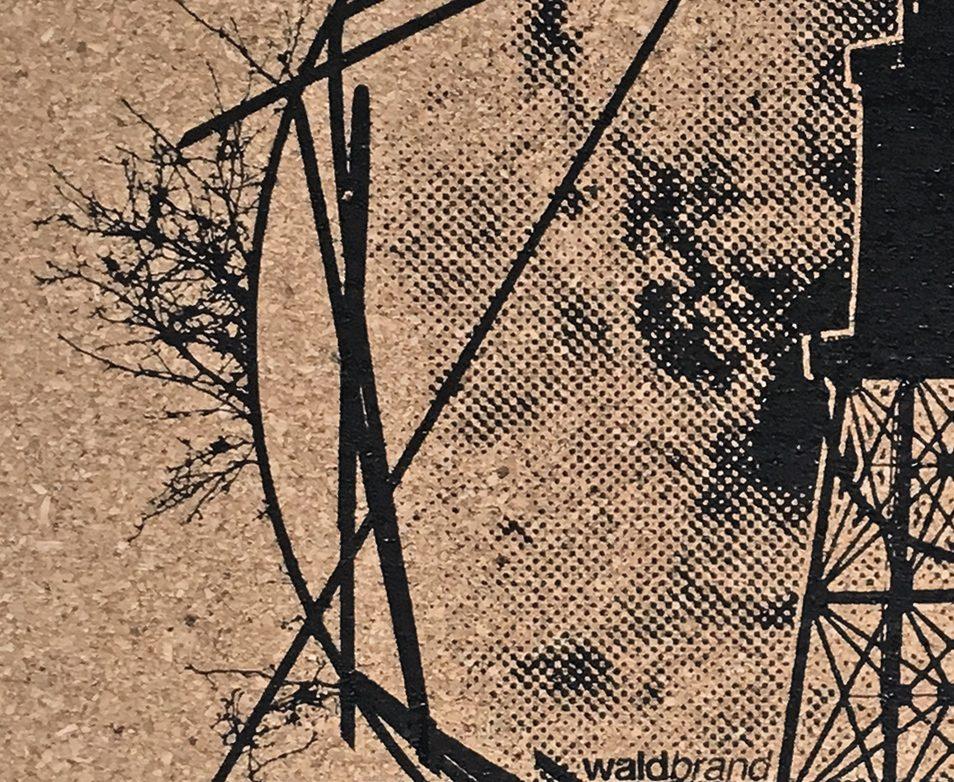 kork, kork-mousepad, unterlage, untersetzer, coaster, platzmatte, korkmatte mit siebdruck, siebdruck poster, DIN A3, grafik, design, siebdruck auf kork, korkdruck, pinnwand, La communion Kork Siebdruck