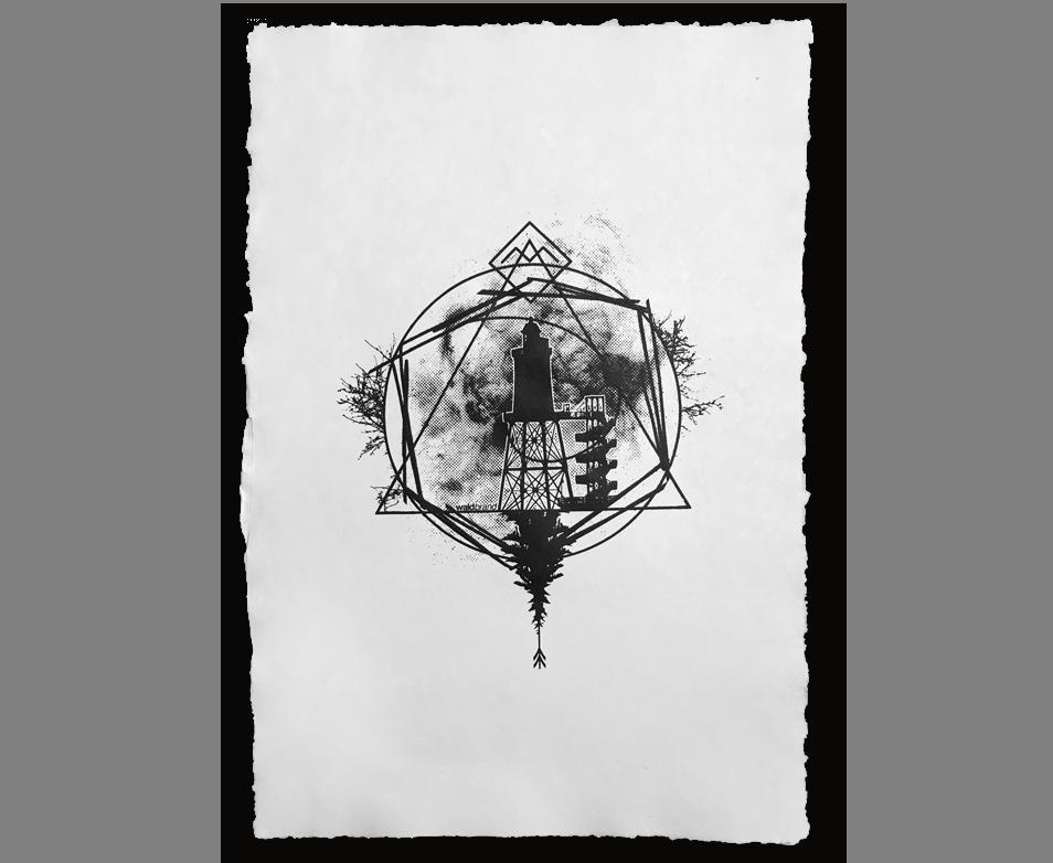 La Communion - Siebdruck auf handgeschöpftem Papier
