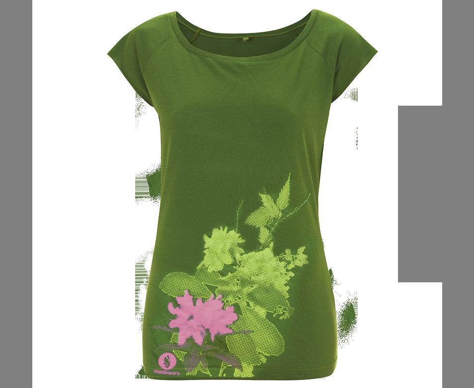 Fancy Plants - Siebdruck auf grünem Shirt