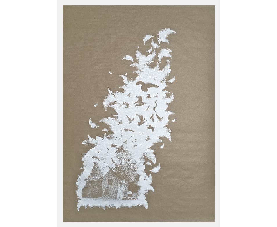 Baraque - Siebdruck auf Natron-Kraft-Papier