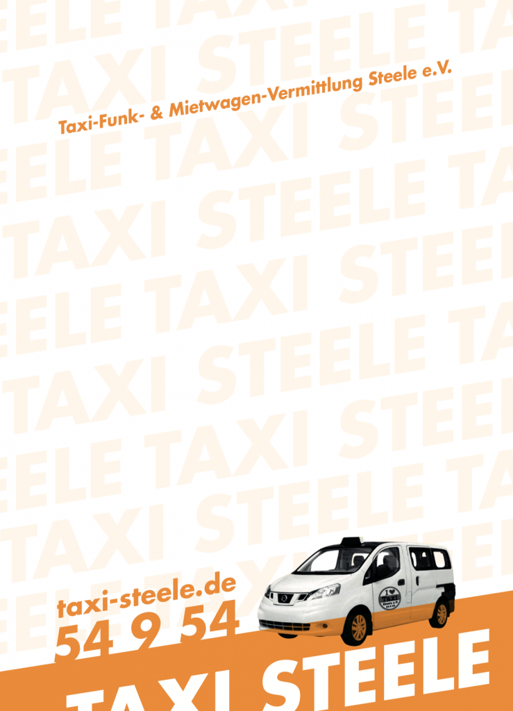 Taxi Steele e.V. - Essener Taxiunternehmen - Corporate Design & Grafik