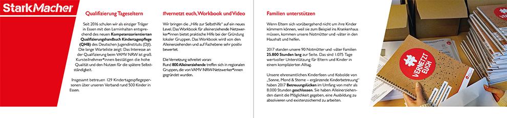 Gestaltung und Reinzeichnung einer Broschüre für den VAMV NRW