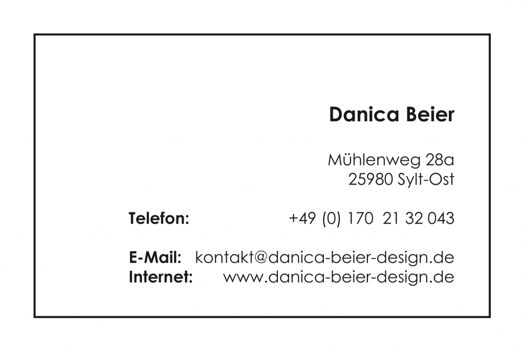 danica beier design, grafikdesign, gestaltung, mediadesign, corporate design, visitenkarten, grafik,