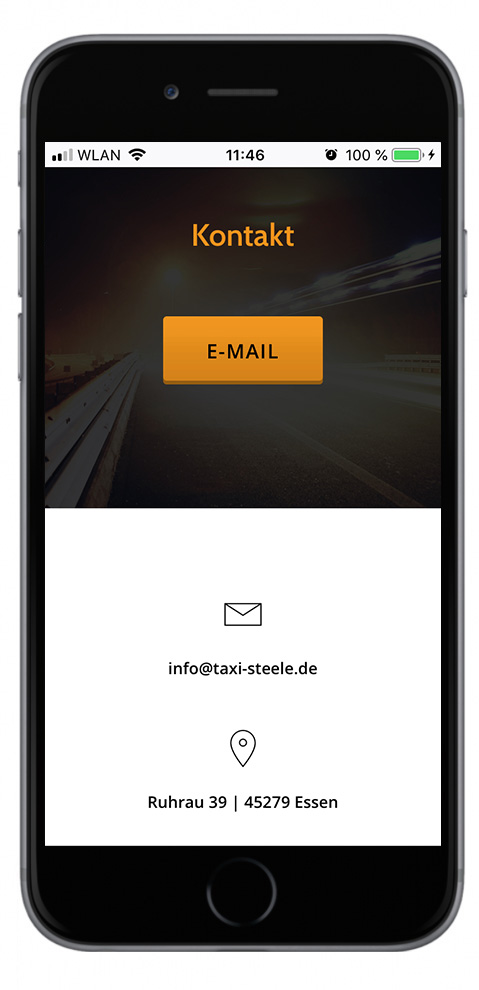 taxi steele, essen, new, mobile webdesign, responsive webdesign, grafik, design, gestating, website design, waldbrand media, NRW, Ruhrgebiet,