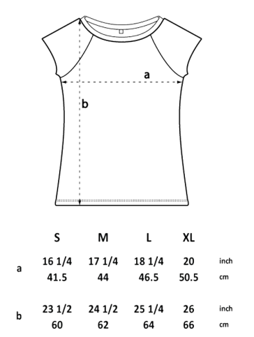 waldbrand shirts, siebdruck, grafik, design, schnittgröße, line drawings, größen, maße, Konfektionsgröße