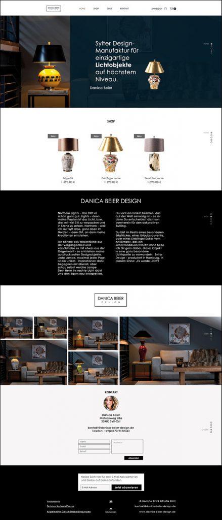 Responsive Webdesign für Sylter Lampen-Design-Manufaktur