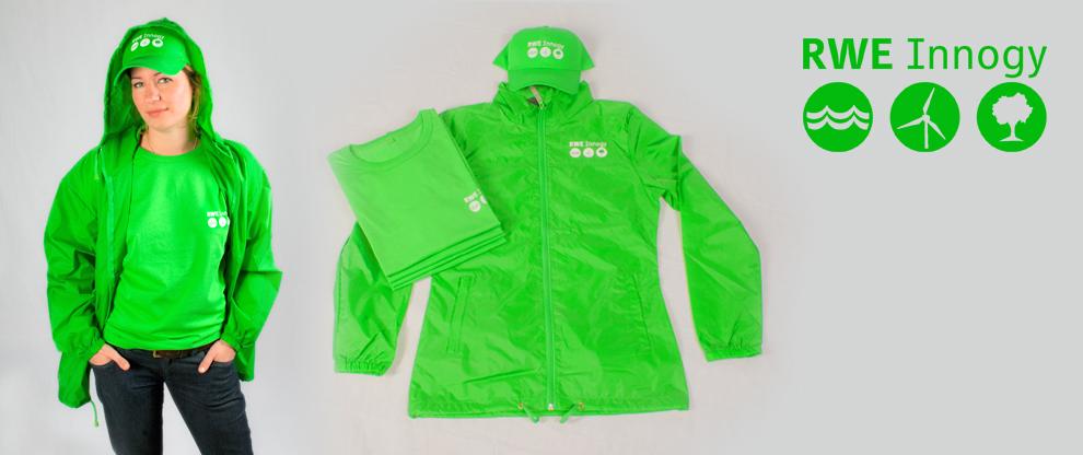 Corporate Fashion T-Shirts, Jacken und Baseball-Cape - im Siebdruck veredelt und bedruckt.