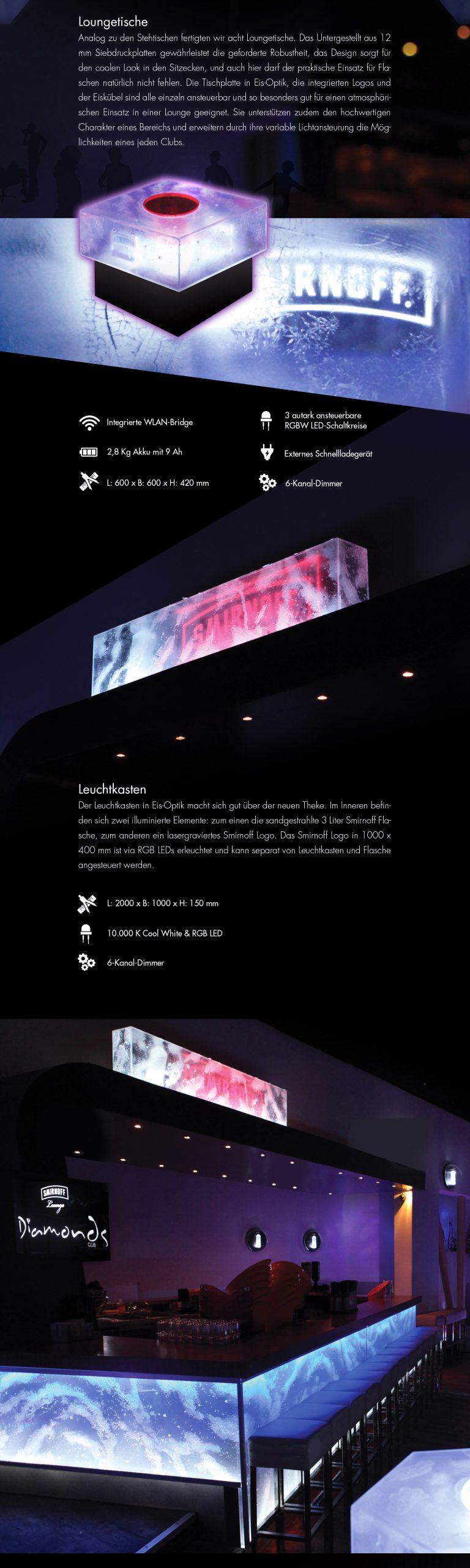 Grafische Produktions-Dokumentation - Kölner Diamonds Club. Interieur Design und visuelle Kommunikation.