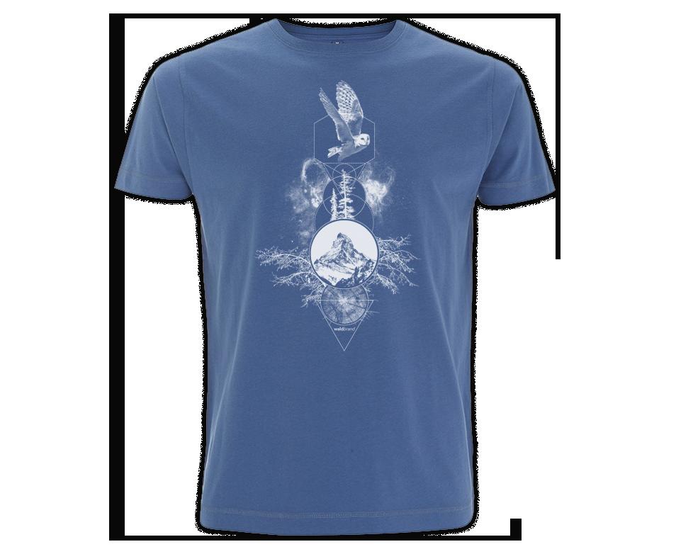 Spiritual Particles -  blaues T-Shirt für Jungs