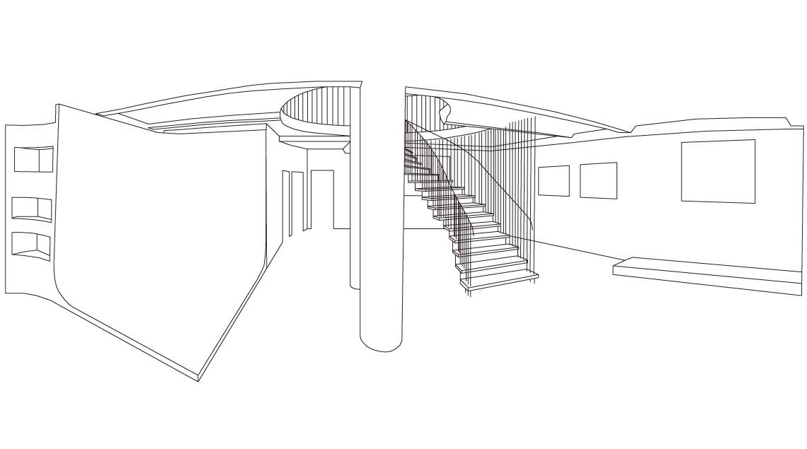 Illustrationen und technische Zeichnungen - Raum Illustration Grafik Innenraum.