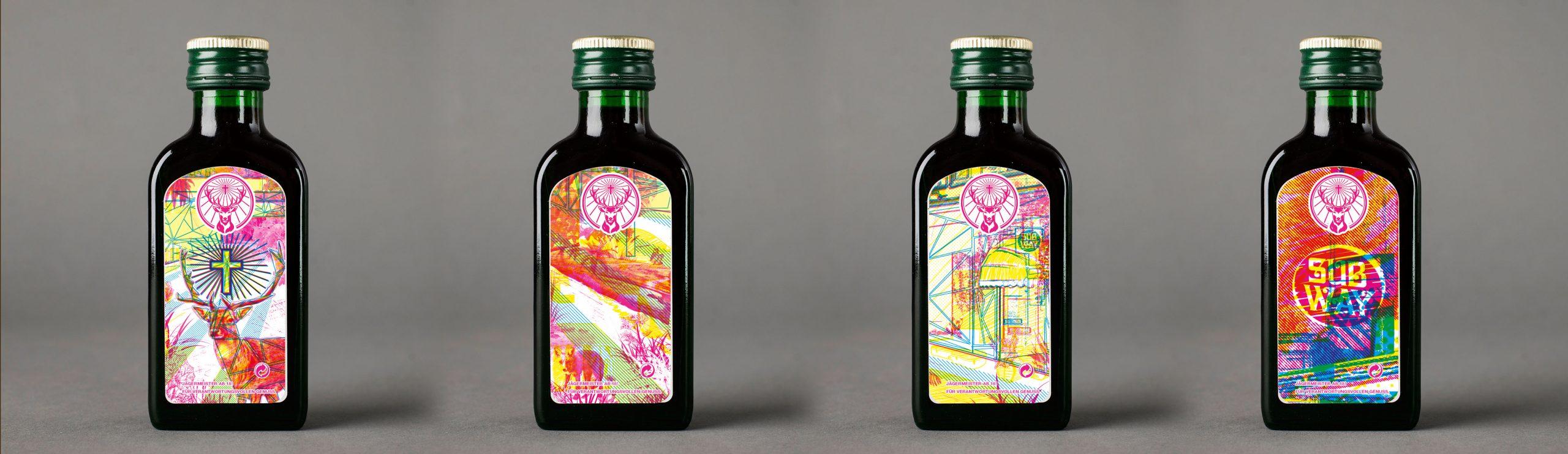 Jägermeister Mini-Flaschen Design Grafik Gestaltung