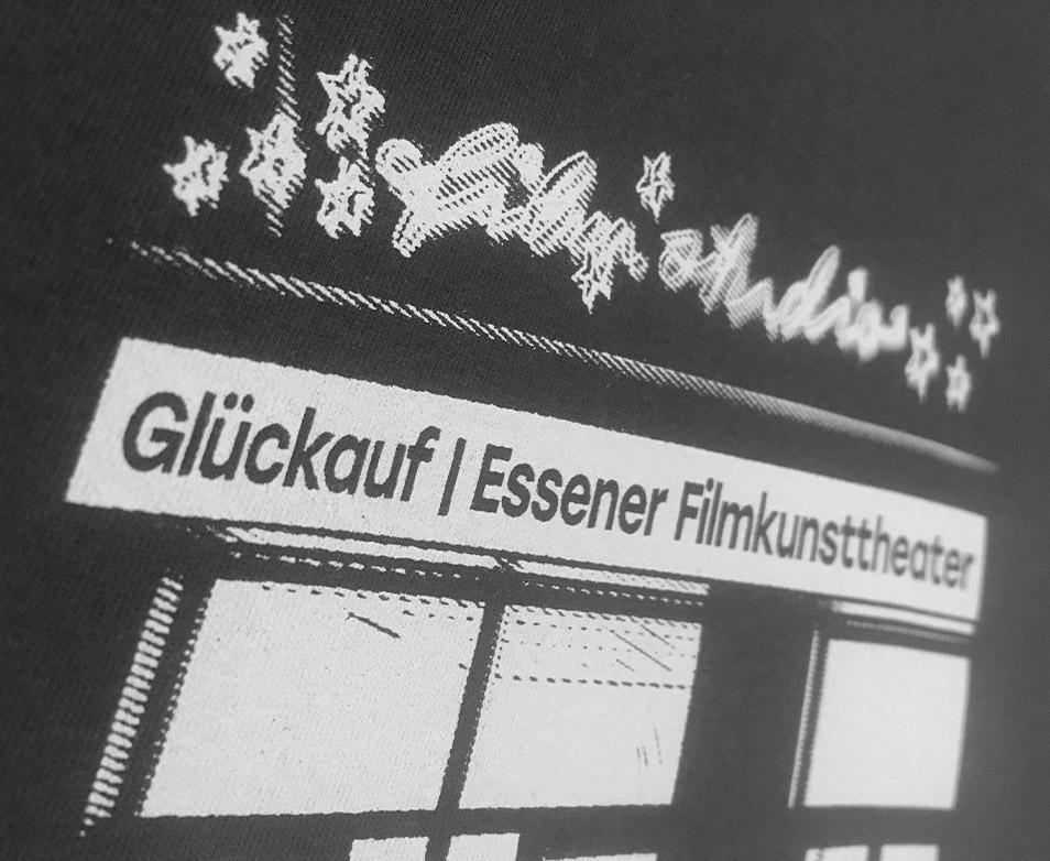 Eulenspiegel Galerie cinema Lichtburg Filmstudio Essen Kino Shirts