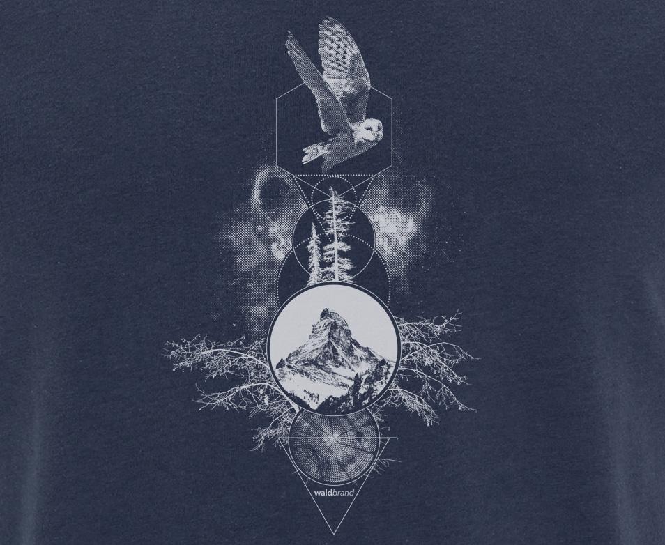 Spiritual Particles – blaues T-Shirt für Jungs