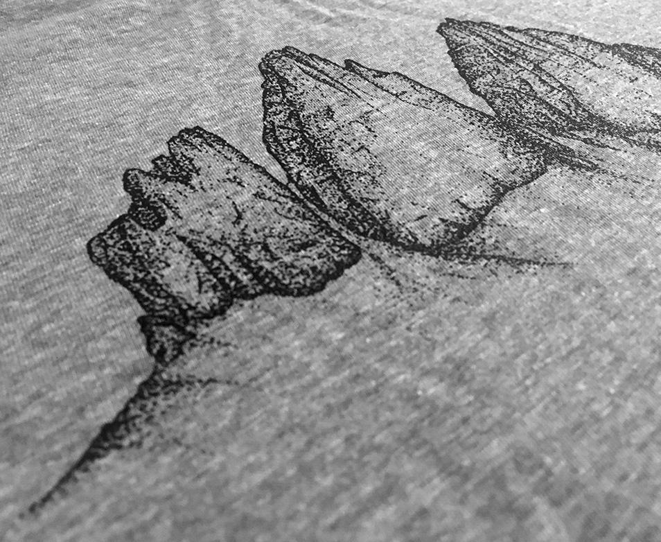 Drei Zinnen Damen Shirt in Melangegrau