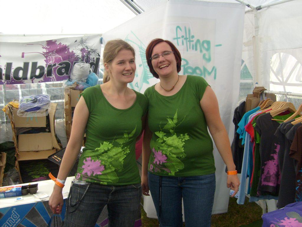 Rock am Ring 2009 - Bedruckte Textilien im Siebdruck - Waldbrand Clothing