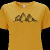 Drei Zinnen gelbes Damen Shirt