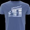 Essener Filmstudio Glückauf - blaues Herren-Shirt mit Siebdruck