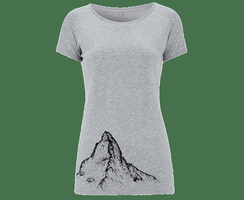Matterhorn Damen T-Shirt in Melangegrau