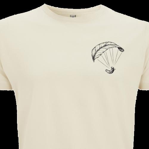 Naturfarbenes Paragliding Shirt für Männer