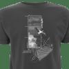 Luftraum T-Shirt dunkelgrau